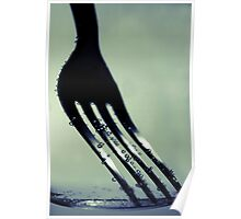 Fork in Carbonated Water Poster