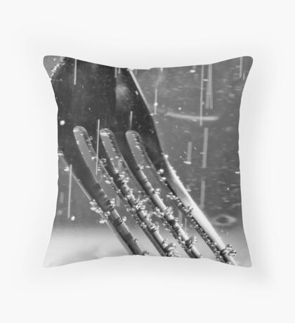 Fork in Carbonated Water Throw Pillow
