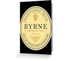 Irish Names Byrne Greeting Card