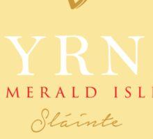 Irish Names Byrne Sticker