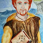 Saint Comgall of Bangor by Rowan  Lewgalon