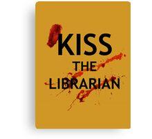 Spike's Kiss the Librarian Mug Canvas Print