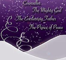 Isaiah 9:6 Christmas Card by Lisa Knechtel