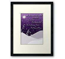 Isaiah 9:6 Christmas Card Framed Print