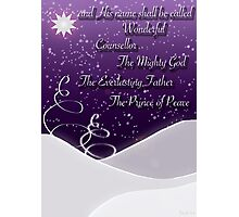 Isaiah 9:6 Christmas Card Photographic Print