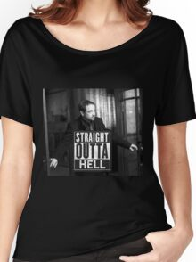 Straight Outta Hell-2 Women's Relaxed Fit T-Shirt