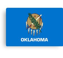 State Flags of the United States of America -  Oklahoma Canvas Print