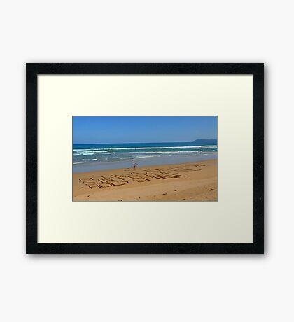 Believe Jesus! - HDR - Great Ocean Road Australia Framed Print