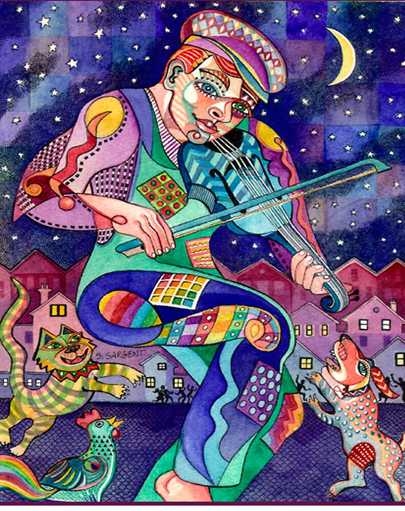 Street Fiddler by Sally Sargent