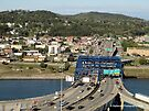Bridge Over Kanawha I-77 I-64 Split in Charleston WV USA by Barberelli