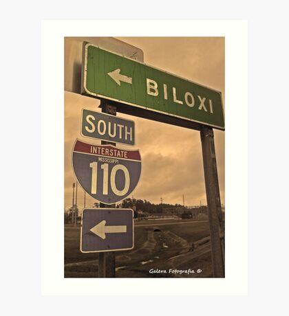 Biloxi/ I 110 Mississippi Art Print