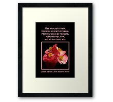 October Is Breast Cancer Awareness Month Framed Print