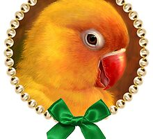 Fischer lovebird realistic painting by lifewithbirds