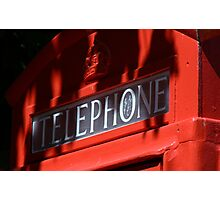 Telephone Box Photographic Print