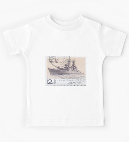 The Soviet Union 1970 CPA 3912 stamp Missile Cruiser Varyag cancelled USSR Kids Tee