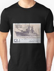 The Soviet Union 1970 CPA 3912 stamp Missile Cruiser Varyag cancelled USSR Unisex T-Shirt