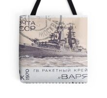 The Soviet Union 1970 CPA 3912 stamp Missile Cruiser Varyag cancelled USSR Tote Bag