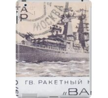 The Soviet Union 1970 CPA 3912 stamp Missile Cruiser Varyag cancelled USSR iPad Case/Skin