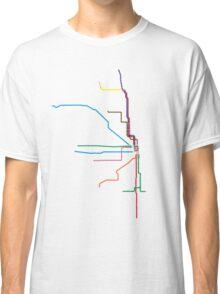 "Chicago ""L"" Map Classic T-Shirt"
