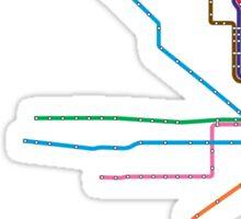 """Chicago """"L"""" Map Sticker"""
