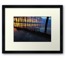 Oceanside California Pier at Sunset Framed Print