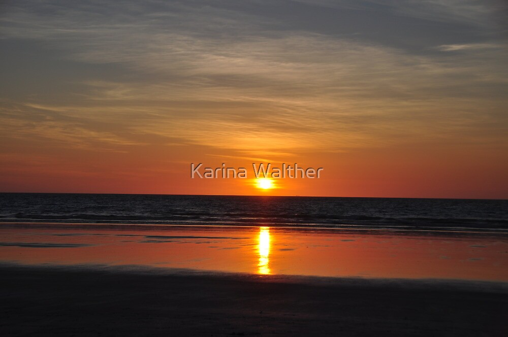 Sunset on Cable Beach by Karina  Cooper