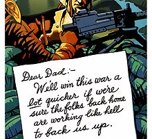 Soldier's Letter Home To Dad -- WW2 by warishellstore