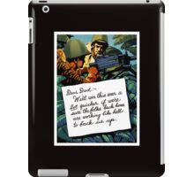 Soldier's Letter Home To Dad -- WW2 iPad Case/Skin