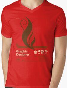 Graphic Designer Mens V-Neck T-Shirt