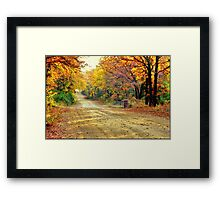 Color Book Road  Framed Print