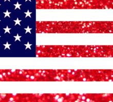 Glitter American Flag Sticker