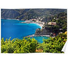 Ligurian Coastline at Monterosso Poster
