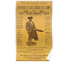 Poster 1890s Cartel despedida caraancha Poster