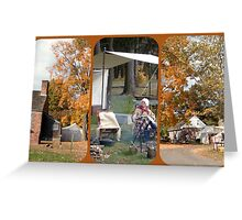 Dey Mansion Re-enactment Day Triptych Greeting Card