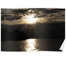 Lake Ontario at Sunset. Poster