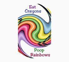 Eat Crayons, Poop Rainbows Long Sleeve T-Shirt