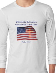 Blessed is the nation Long Sleeve T-Shirt