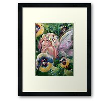Pansy Patch Framed Print
