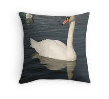 Swan in the long water, Hyde Park, London Throw Pillow