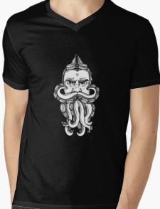 Steampunk Octobeard Mens V-Neck T-Shirt