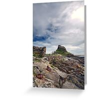 Holy Island Castle  Greeting Card