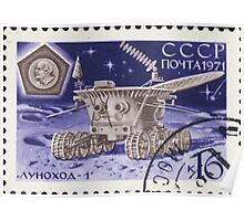 The Soviet Union 1971 CPA 3989 stamp Lunokhod 1 Moon vehicle cancelled USSR Poster