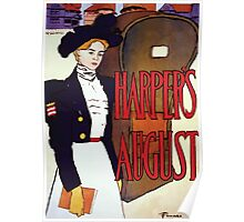 Poster 1890s Edward Penfield Harper's August 1897 Poster