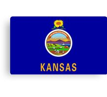 State Flags of the United States of America -  Kansas Canvas Print