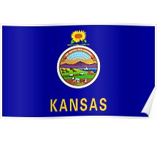 State Flags of the United States of America -  Kansas Poster