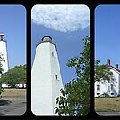 Sandy Hook Lighthouse Triptych by Jane Neill-Hancock