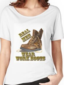 Real Men Wear Work Boots Women's Relaxed Fit T-Shirt