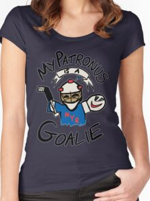 My Patronus is a Goalie (NYR Edition) Women's Fitted Scoop T-Shirt