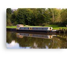 Autumn Barge Canvas Print