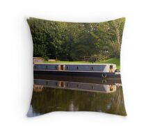 Autumn Barge Throw Pillow